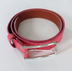 Cole Haan Embossed Pink Leather Belt Size S